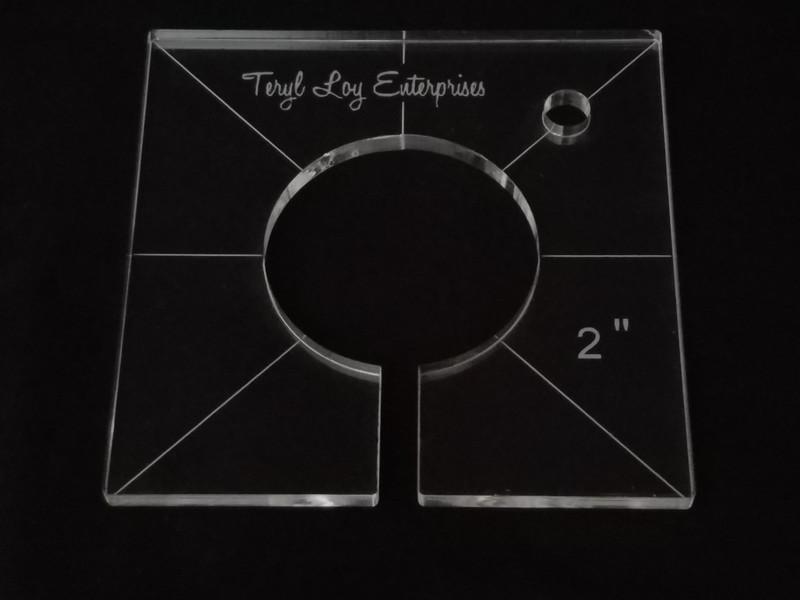 "1/4"" Template, Circle 2"""