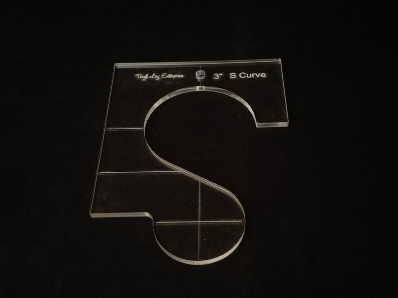 """1/4"""" Template, S Curve 3"""""""
