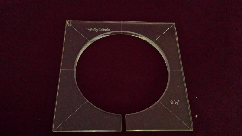 Inside Circle Template, 6-1/2 inch diameter