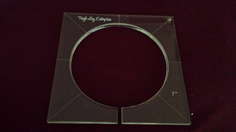 Inside Circle Template, 7 inch diameter