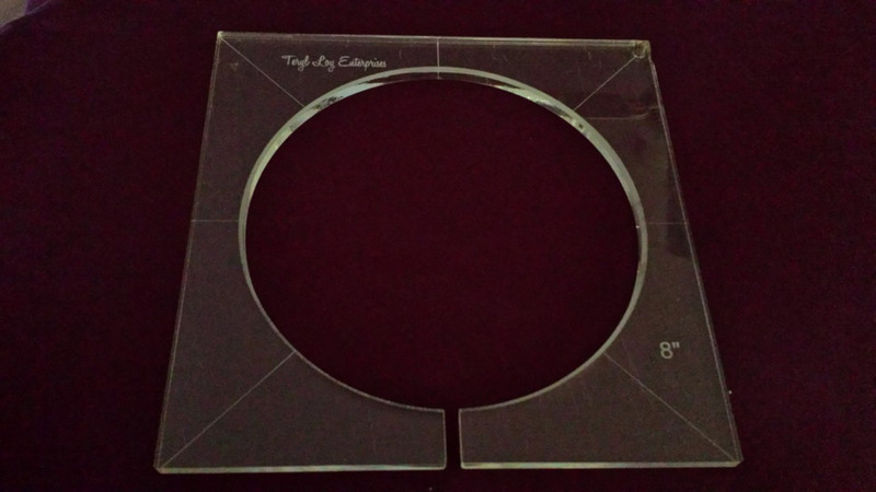 Inside Circle Template, 8 inch diameter