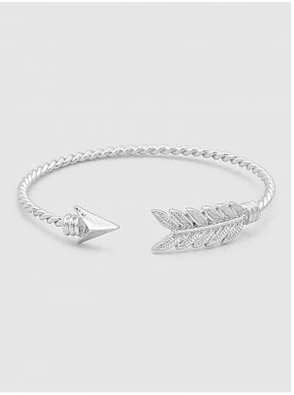 shoot pin it arrow jewelry slim sterling bracelet silver