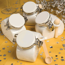 Perfectly Plain Collection Ceramic Jar Favours