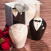 Stylish Ceramic Bride And Groom Salt And Pepper Shakers