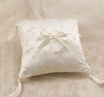 Elegant Satin Ring Pillow Ivory