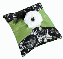 Green And Black Ring Pillow
