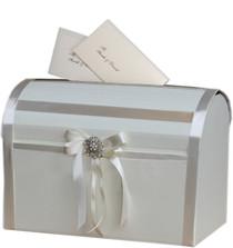 Ivory Elegant Wedding Card Post Box