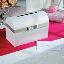 Silver Bow Wedding Card Box