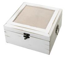 Antique White Card Box Blank