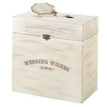 Wedding Wishes Wooden Key Card Box