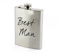 Stainless Steel Hip Flask Best Man