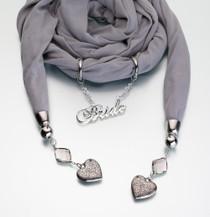 Bride Scarf Grey