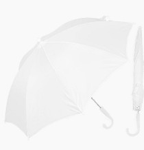Bridesmaid Flower Girl 28in White Umbrella