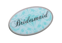Bridesmaid Pin Oval Aqua