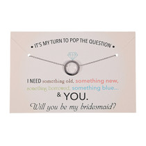 Pop The Question Bridesmaid Necklace With Card