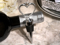 Unique Bling Heart Diamond Ring Silver Wine Stopper