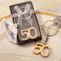 50th Anniversary Key Ring Favours