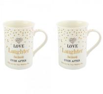 Mad Dots Love And Laughter Mug Set