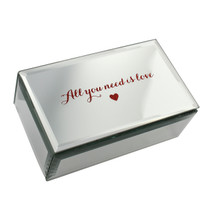 Lasting Memories' Glass Mirror Jewellery Box All You Need is Love