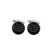 Amore By Juliana Cufflinks 'To Love And To Cherish'