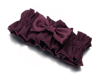 Plum Satin Garter - Beautiful