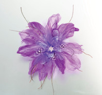Feather Hair Clip Purple