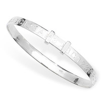 Sterling Silver Childs ABC 123 Bangle including Gift Box