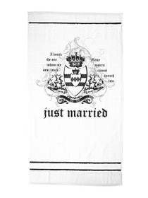Just Married Beach Towel