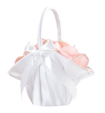 Large Satin Basket White