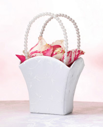Elegant Wedding Basket White
