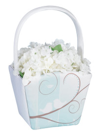 Love Birds Flower Basket