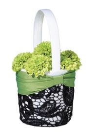 Green And Black Basket