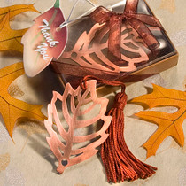 Fall Leaf Bookmark Favour