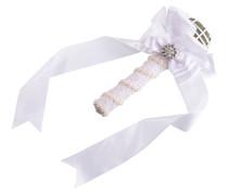 Satin Bouquet Holder White