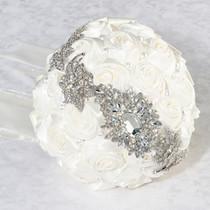 Pearl Rhinestone Bouquet Cream