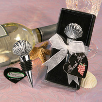 Vineyard Collection Shell Design Wine Stopper Favours