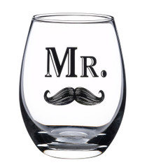 Mr. Wine Glass With Mustache