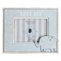 Petit Cheri' MDF Photo Frame 5x3.5 Elephant Baby Boy