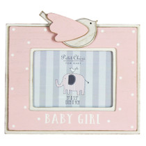 Petit Cheri' MDF Photo Frame 5x3.5 Bird Baby Girl