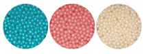 1kg Pearlised Sugared Balls 4mm Blue Pearl