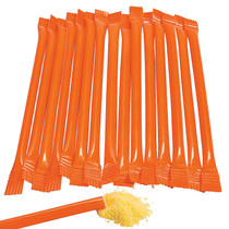 240 x Orange Candy Filled Straws