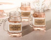 Set of 6 Burlap Glass Celebrate Wraps