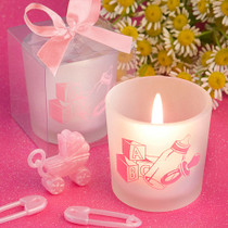 Favour Saver Collection Baby Girl Themed Candle Favours