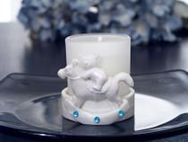 3 Rocking Horse Votive Candle Blue