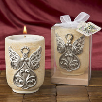 Large Angel Design Tealight Candle Holder From White Dream