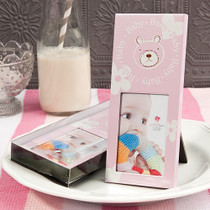 Metal Frame 2x3 Pink Bear Design