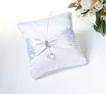 Rhinestone Pillow - White