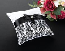 Black Damask Pillow