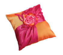 Hot Pink Orange Pillow