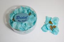 Satin Rose Petals Turquoise